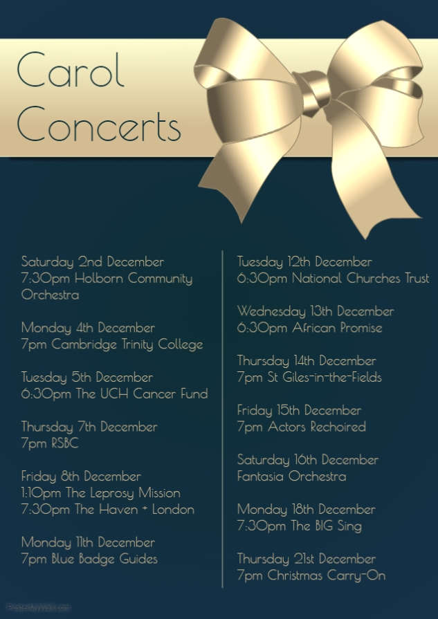 Christmas Events Poster